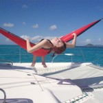 Danielle Wright on a sailing trip to the Grenedines.